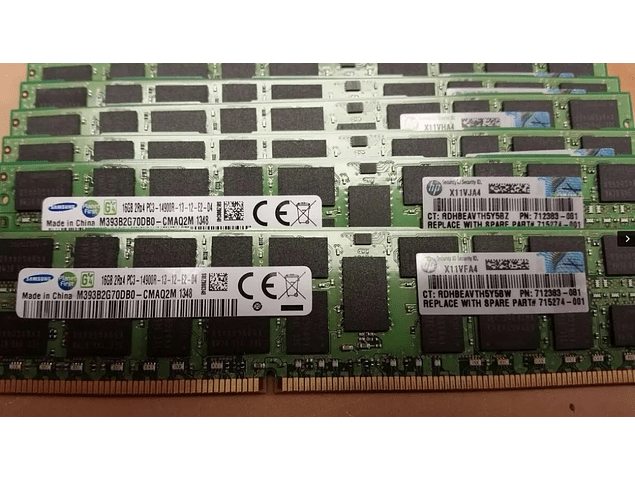 Memoria Ram 16gb / 1866Mhz RDIMM PC3-14900R / Ecc Registered / 715274-001 712383-081