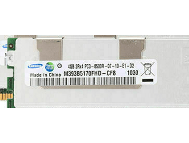 Memoria Ram 8gb / 1066Mhz RDIMM PC3-8500R / Ecc Registered / 500206-071