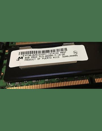 Memoria Ram 8gb / 1066Mhz RDIMM PC3-8500R / Ecc Registered / 500206-071