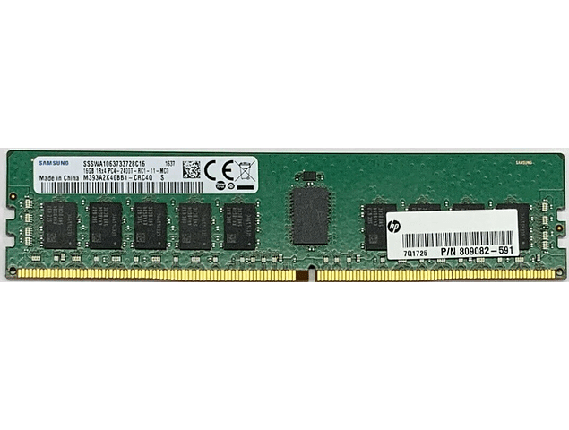 Memoria Ram 16gb / 2400Mhz RDIMM PC4-19200R - 2400T / Ecc Registered / 809082-591