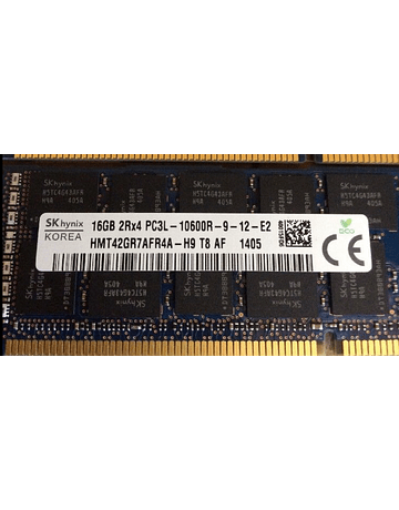 Memoria Ram 16gb / 1333Mhz RDIMM PC3L-10600R / Ecc Registered / 1.35v / 647653-081