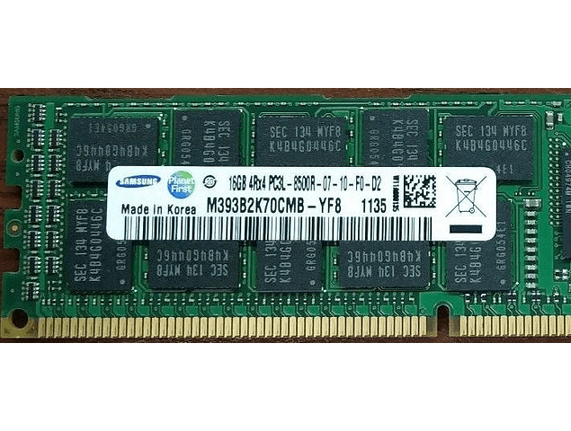 Memoria Ram 16gb / 1066Mhz RDIMM PC3L-8500R / Ecc Registered / 1.35v