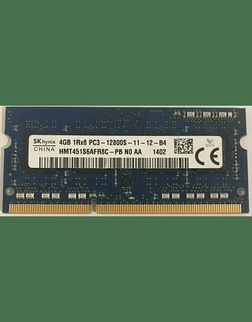 Memoria Ram 4gb / 1600Mhz SODIMM PC3-12800S
