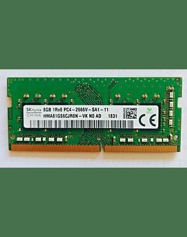 Memoria Ram 8gb / 2666Mhz SODIMM PC4-21300S - 2666V