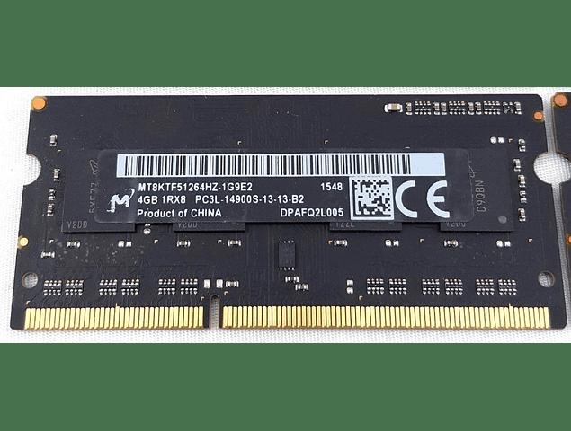 Memoria Ram 4gb / 1866Mhz SODIMM PC3L-14900S / 1.35v