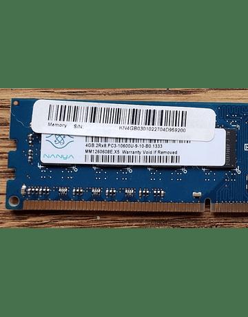 Memoria Ram 4gb / 1333Mhz UDIMM PC3-10600U / 497158-W01