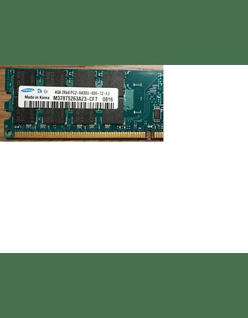 Memoria Ram 4gb / 800Mhz UDIMM PC2-6400U