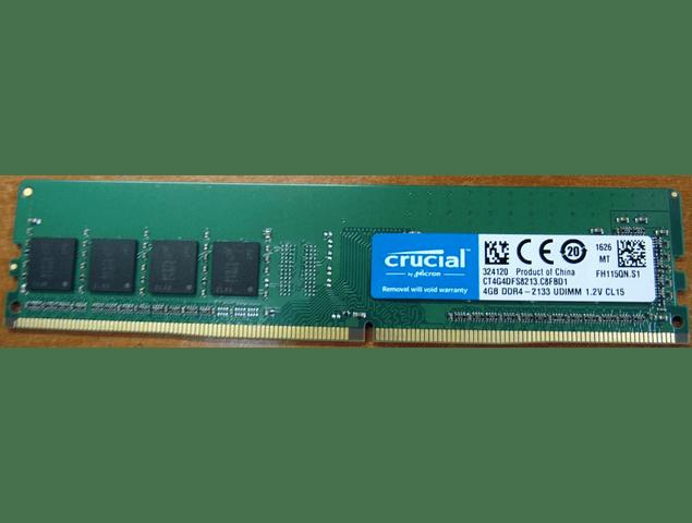 Memoria Ram 4gb / 2133Mhz UDIMM PC4-17000U - 2133P / 798033-001