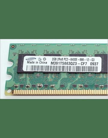 Memoria Ram 2gb / 800mhz EDIMM PC2-6400E / Ecc Unbuffered