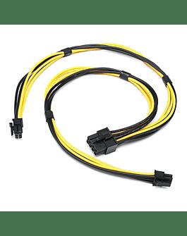 Tarjeta de Video Cable 2 x Mini 6 Pin To PCIE 8 Pin Cable de poder para tarjeta de video Apple MacPro 4.1 5.1 Metal Catalina