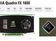 Tarjeta de Video Nvidia QUADRO FX1800 768MB GDDR3 PCI-E Video Card 2 X Display Port 1 X DVI HP 519296-001 508284-001