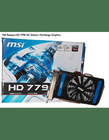 Tarjeta de Video MSI Radeon HD 7790 1GB DDR5 128-bit PCI Express 3.0 x16 Graphics Card AMD