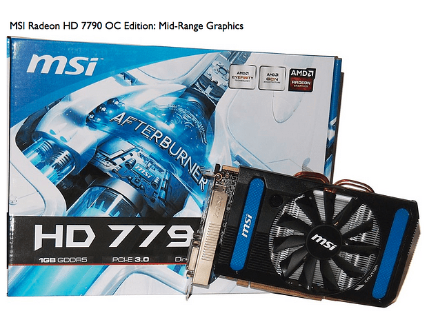 Tarjeta de Video MSI Radeon HD 7790 1GB DDR5 128-bit PCI Express 3.0 x16 Graphics Card AMD
