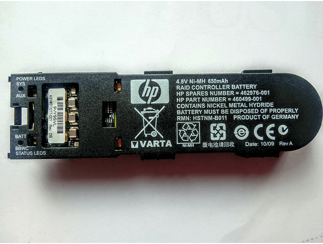 Bateria Controladora HP Smart Array P410i P410 P411 P212 4.8V Battery module 462976-001  460499-001 462969-B21 sin cable