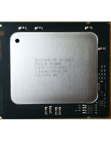 CPU Intel Xeon  E7-8837 2.67 GHz Eight Core SLC3N 8 cores 16 cores total Server CPU Processor