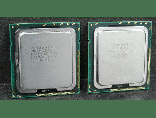 CPU Par Identico de Intel Xeon X5650 6-Core 2.66GHz 12MB 6.4GT/s LGA1366 SLBV7 Server CPU Processor