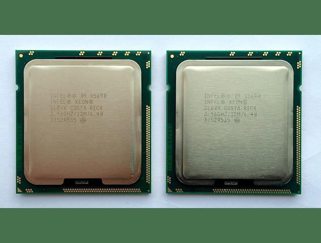 CPU Par Identico de Intel Xeon X5690 6-Core 3.46GHz 12MB 6.4GT/s LGA1366 SLBV7 Server CPU Processor