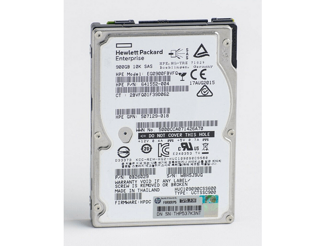 Disco Duro SAS 2.5 900gb Hitachi Ultrastar HGST 10K HUC109090CSS60 Enterprise Class Calidad Empresarial HP 702505-001 697389-001