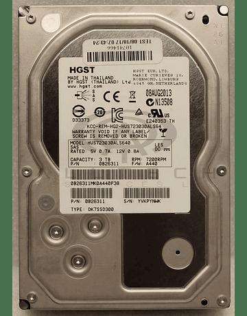 Disco Duro SAS 3Tb Hitachi Ultrastar SAS, 7200rpm 3.5