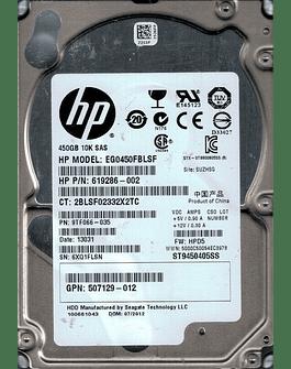 "Disco Duro SAS 450GB HP 2.5"" IBM 10K Server HDD ST9450405SS Enterprise Class Calidad Empresarial"