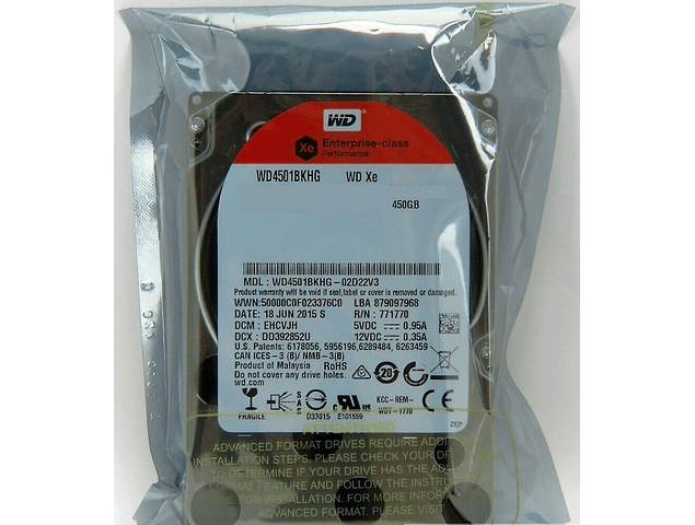 Disco Duro SAS 450GB WD 2.5