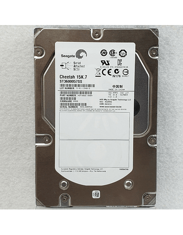 """Disco Duro SAS 600GB Seagate Cheetah 15K.7 ST3600057SS 3.5"""" SAS HDD Drive 15K RPM Cache Multisegmented 16gb/s Enterprise Class Calidad Empresarial"""