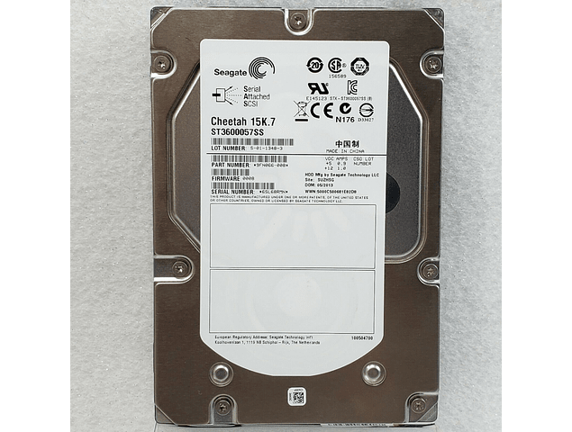 Disco Duro SAS 600GB Seagate Cheetah 15K.7 ST3600057SS 3.5