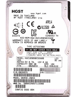Disco Duro SAS 900GB HP 2.5 SAS 10K HDD 6.0Gb/s  Enterprise Class Calidad Empresarial