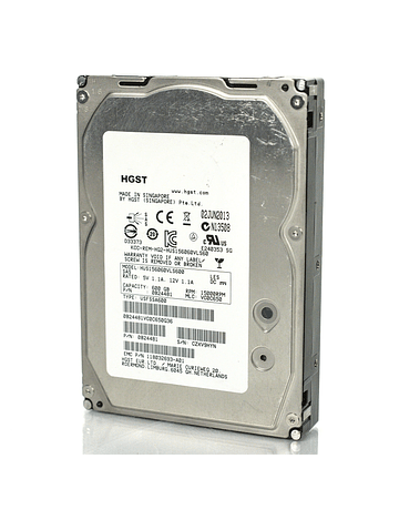"Disco Duro SAS 600GB Hitachi Ultrastar 3.5"" HGST 15K Server HDD HUS156060VLS600 0B24505 3.5"" Enterprise Class Calidad Empresarial"