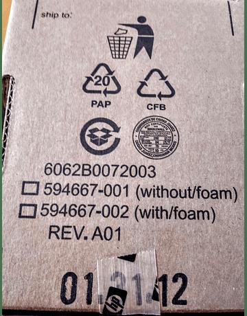 Memoria HP 512Mb FLASH BACKED CACHE con Bateria 571436-002 534562-B21