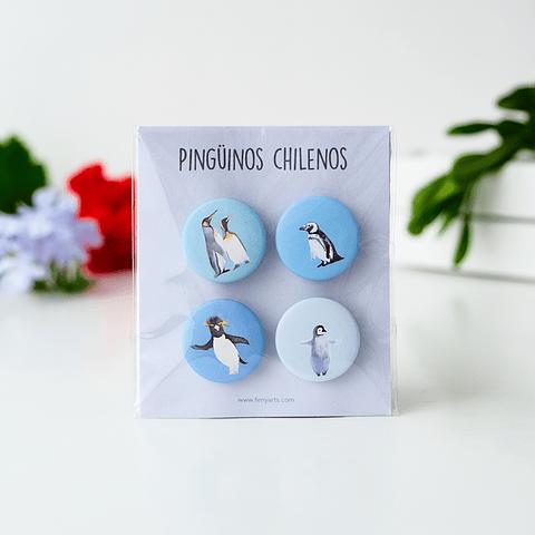Set pins pingüinos + triptico