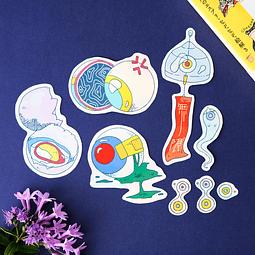 "Set Stickers ""Me (目)"""