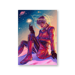 Print Cohete Lunar - Kuro
