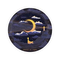 Sticker Silencio por la noche