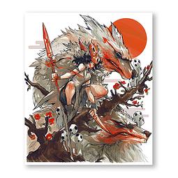 Print Museo Ghibli: Mononoke