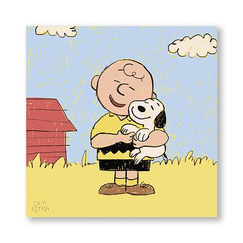 Print Snoopy love