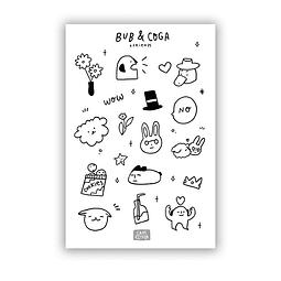 Set Stickers Bub & Coga + friends