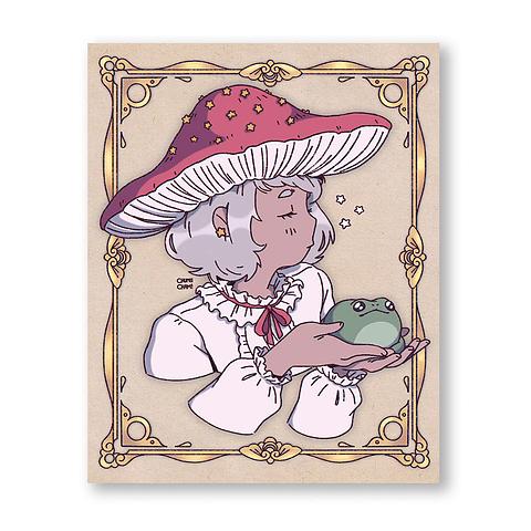 Print Mushroom girl