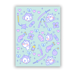 Set Stickers Cute & Deadly