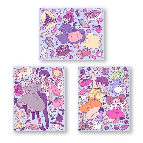 Set Prints Ghibli