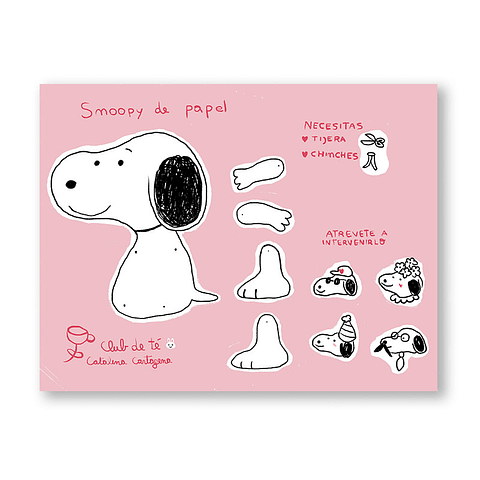 Print Paper doll Snoopy