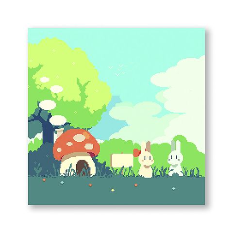 Print Bunnies in the forest