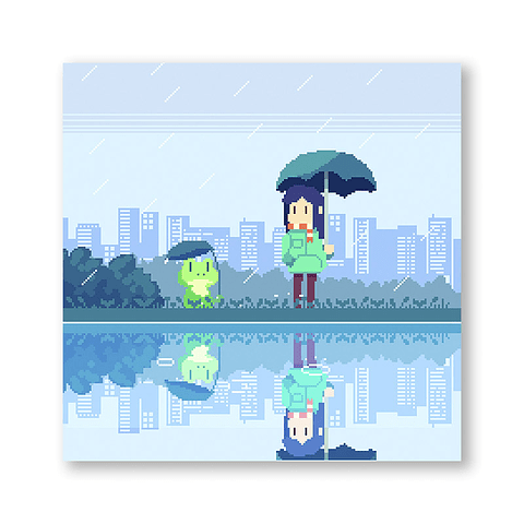Print Rain and friends