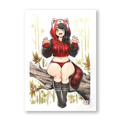 Print Redpanda girl