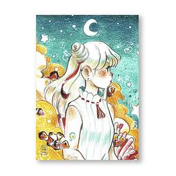 Print Noche y peces