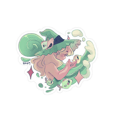 Sticker Bruja marina
