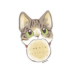 Sticker Gatito pan