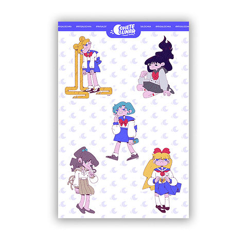 Set stickers Sailor Moon