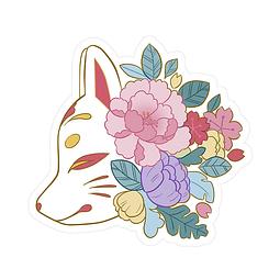 Sticker kitsune