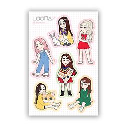 Set Stickers Loona 1